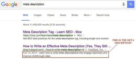 Meta Description Example