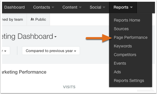 HubSpot's Page Load Speed Report