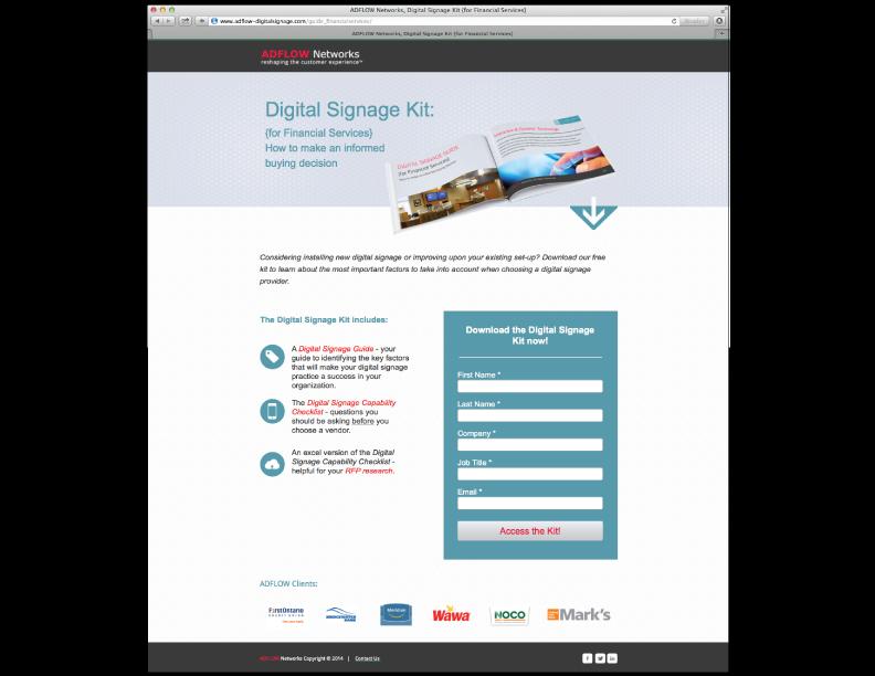 ADFLOW Gated Landing Page