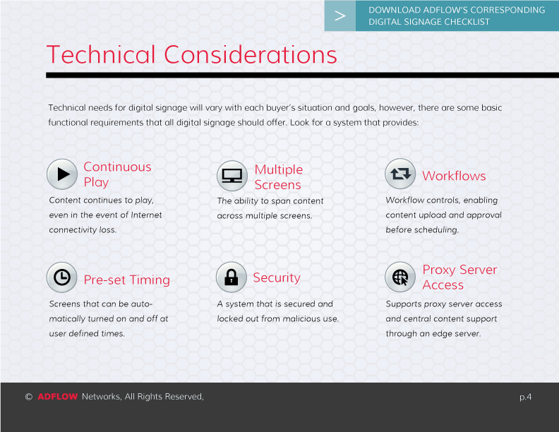 ADFLOW Digital Signage Guide
